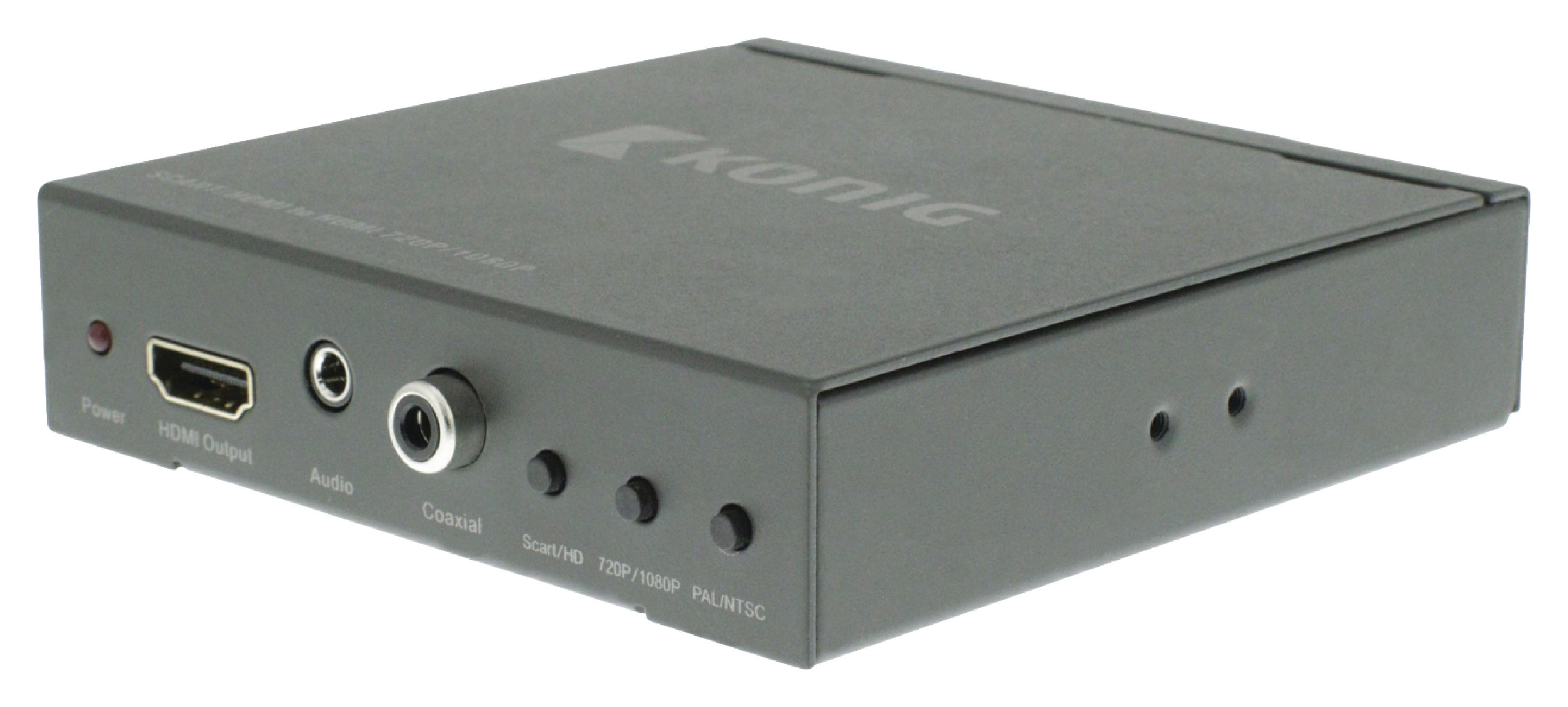 Převodník SCART na HDMI, Full HD 1920x1080 König KNVCO3420