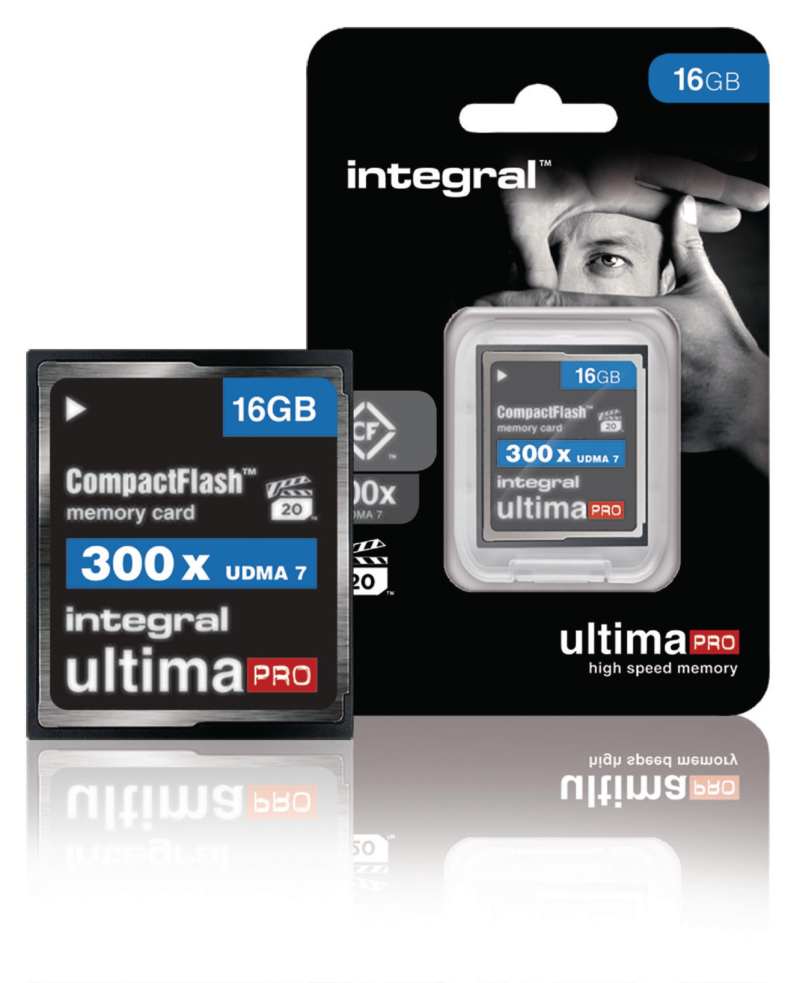 Paměťová karta Integral UltimaPro Compact Flash 16 GB 300x, INCF16G300W
