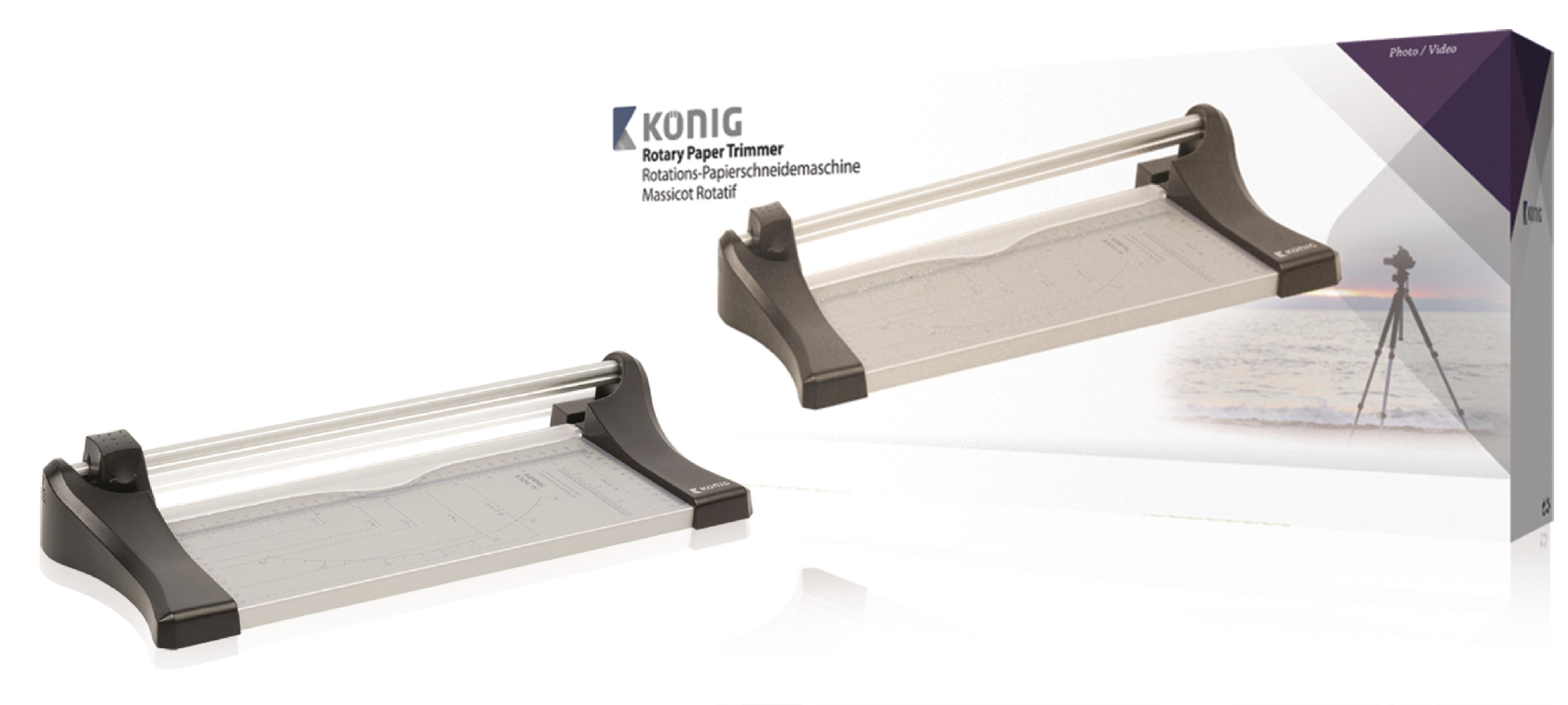 Kolečková řezačka na papír A4, König KN-CM20
