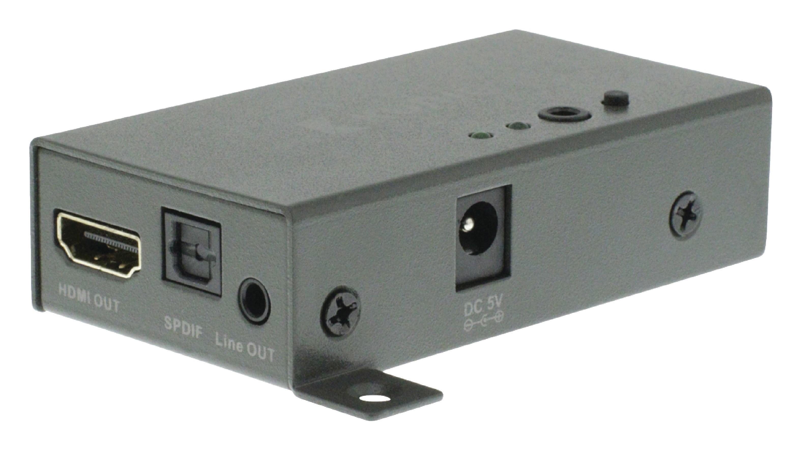 HDMI převodník HDMI na audio analog Jack + digital toslink, König KNVEX3400
