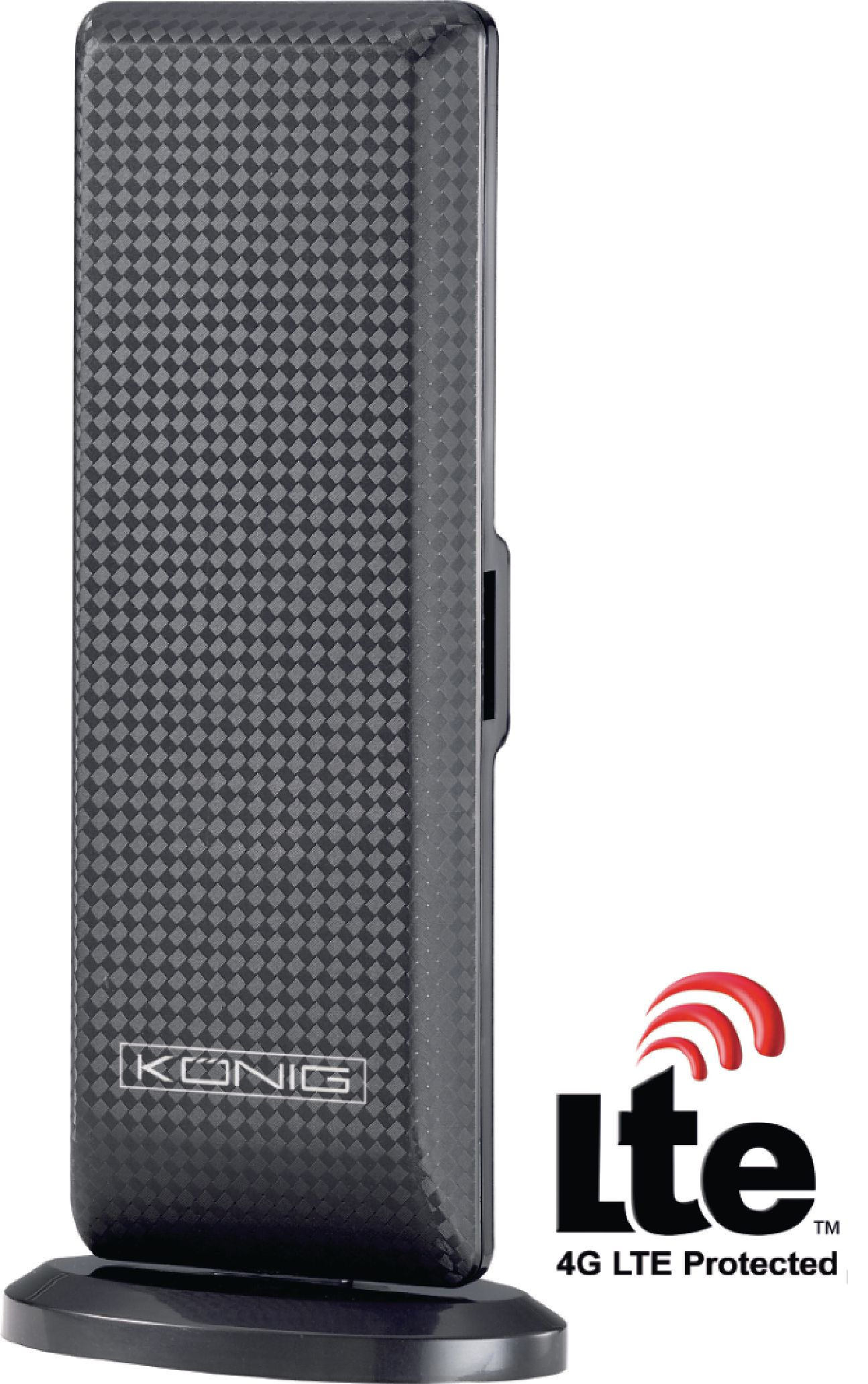 Anténa pokojová DVB-T/T2, DAB se zesilovačem 28 dB KN-DVBT-IN52L