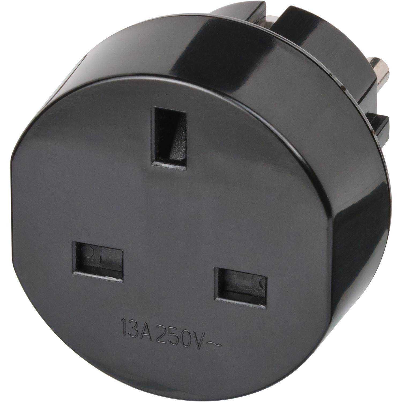 Brennenstuhl cestovní adaptér UK na Evropa, uzemněný BN-1508530