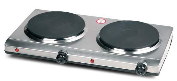 Vařič dvouplotýnkový nerezový - DOMO DO311KP, elektrický